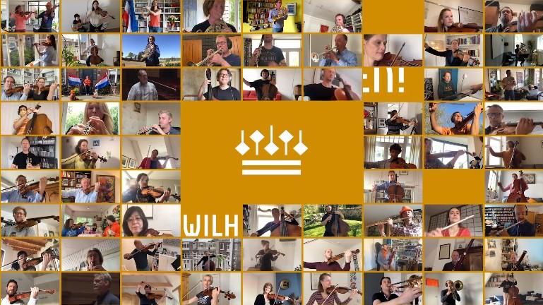 Wilhelmus spelen met het concertgebouworkest
